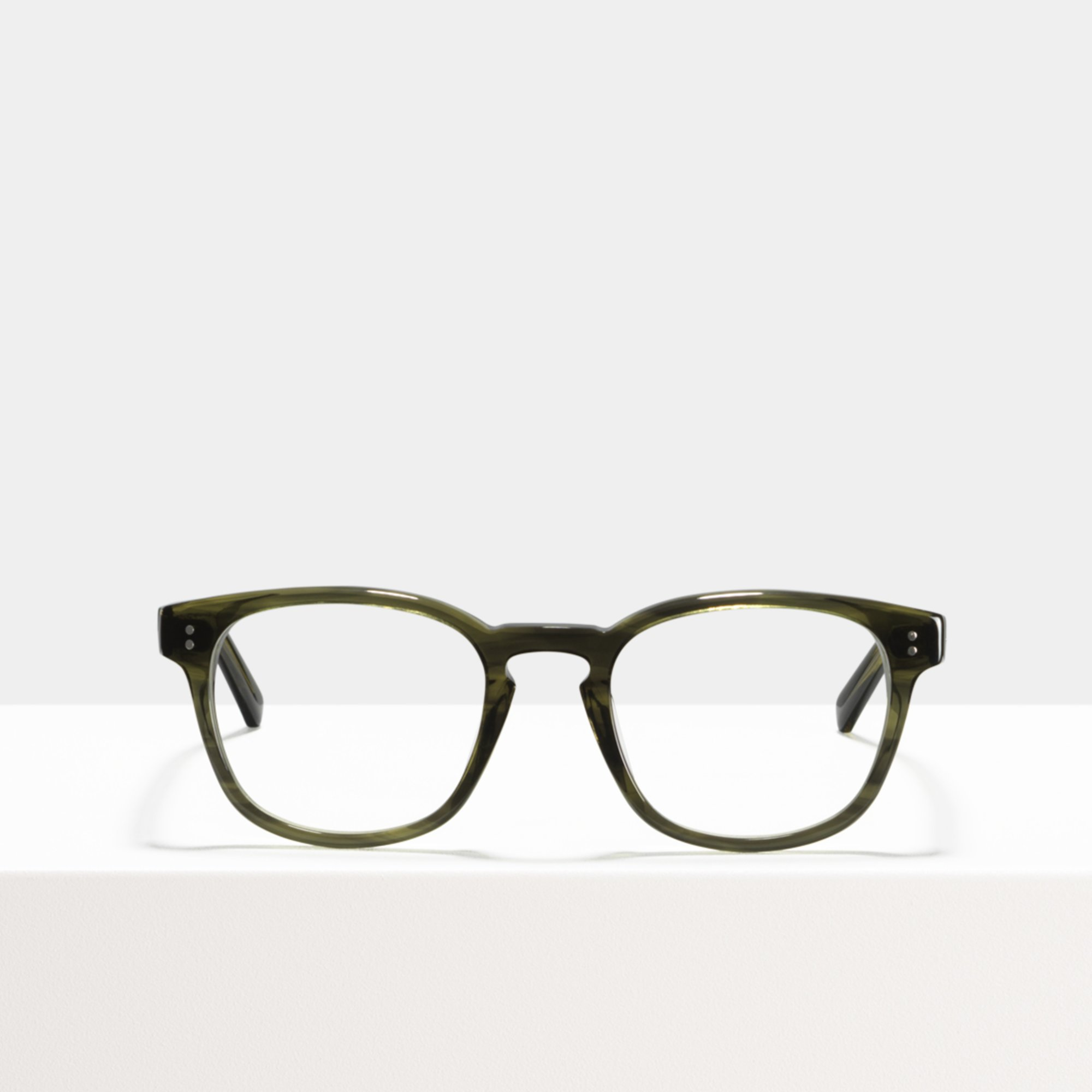 Ace & Tate Glasses | square acetate in Green