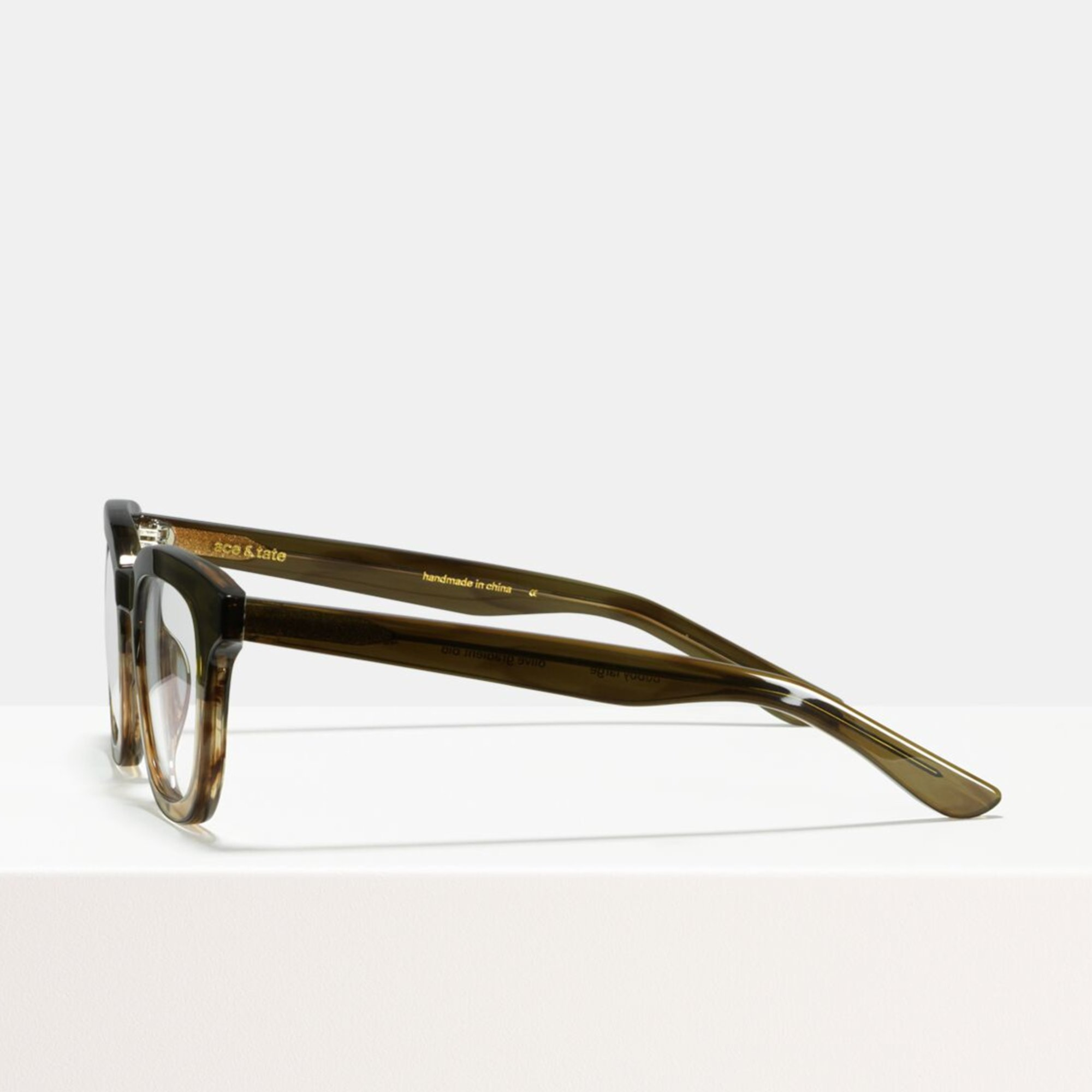 Ace & Tate Glasses | square acetate in Green, Brown