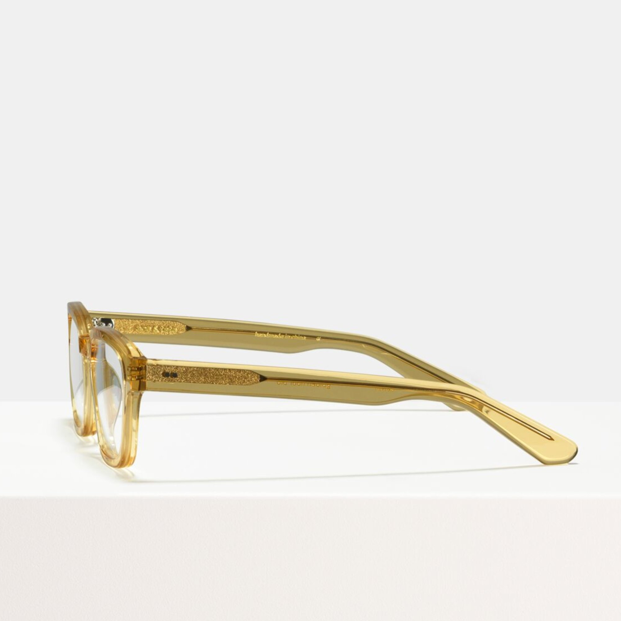 Ace & Tate Glasses | rectangle acetate in Yellow