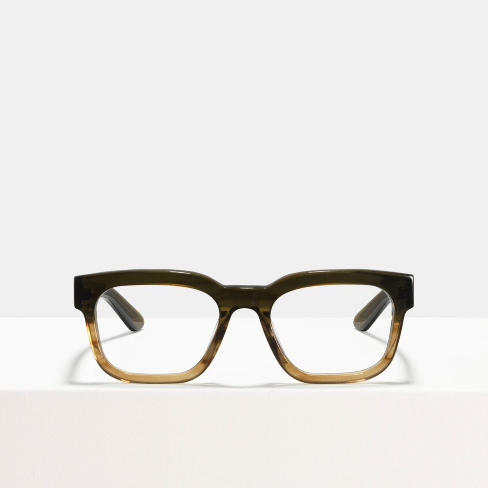 Ace & Tate Glasses | rectangle acetate in Green, Brown