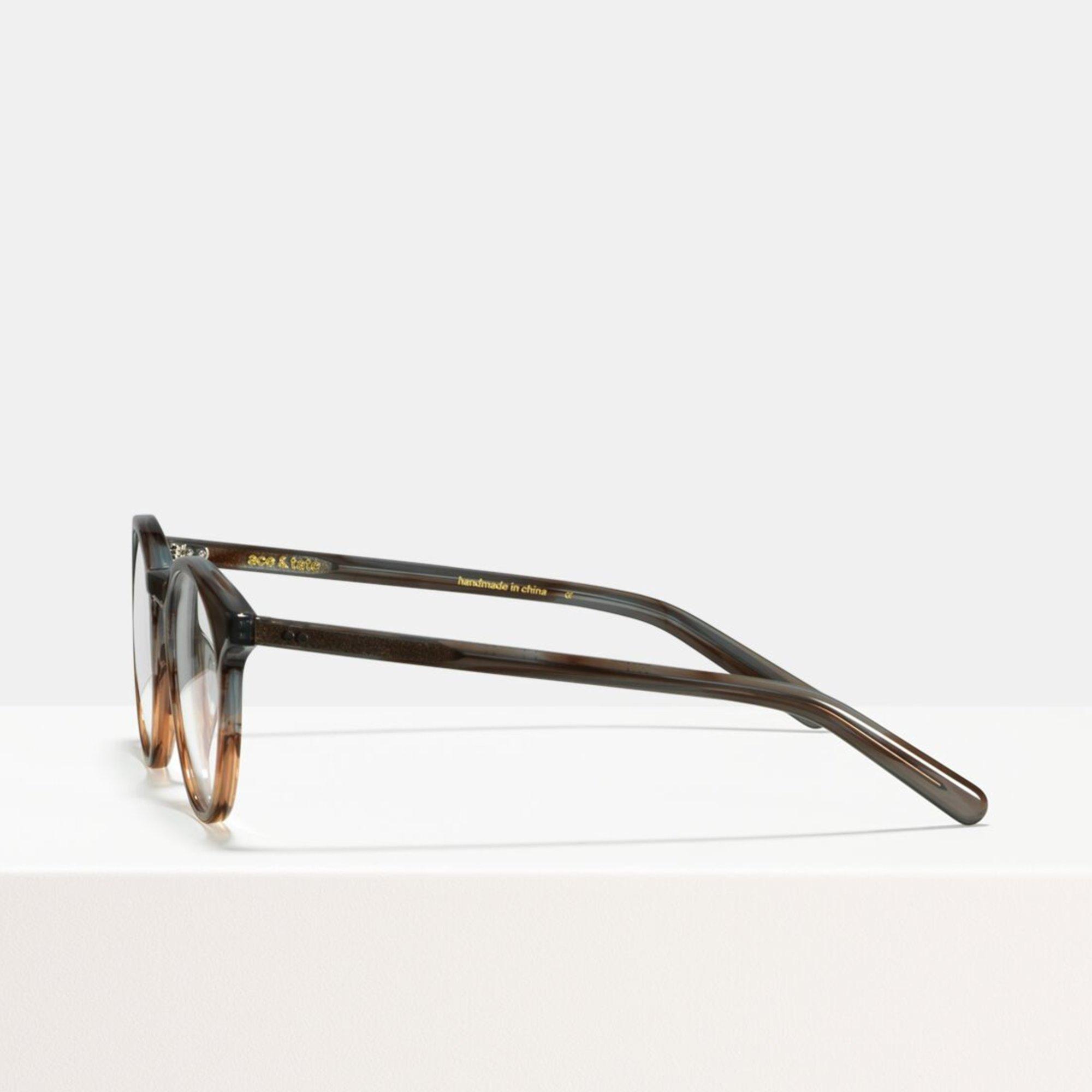 Ace & Tate Glasses | round acetate in Grey, Brown, Orange