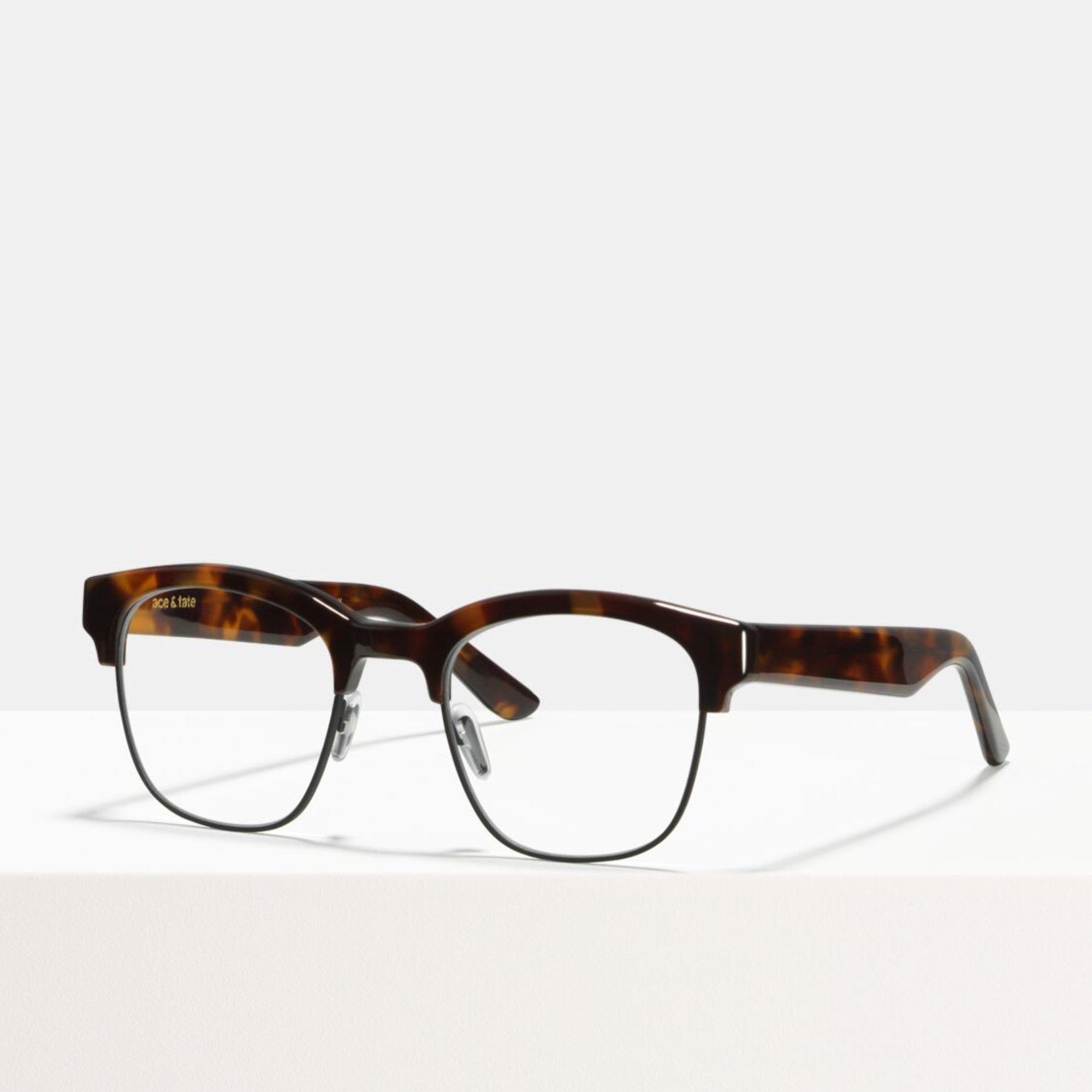 Ace & Tate Glasses | square metal in Brown, Orange, Yellow
