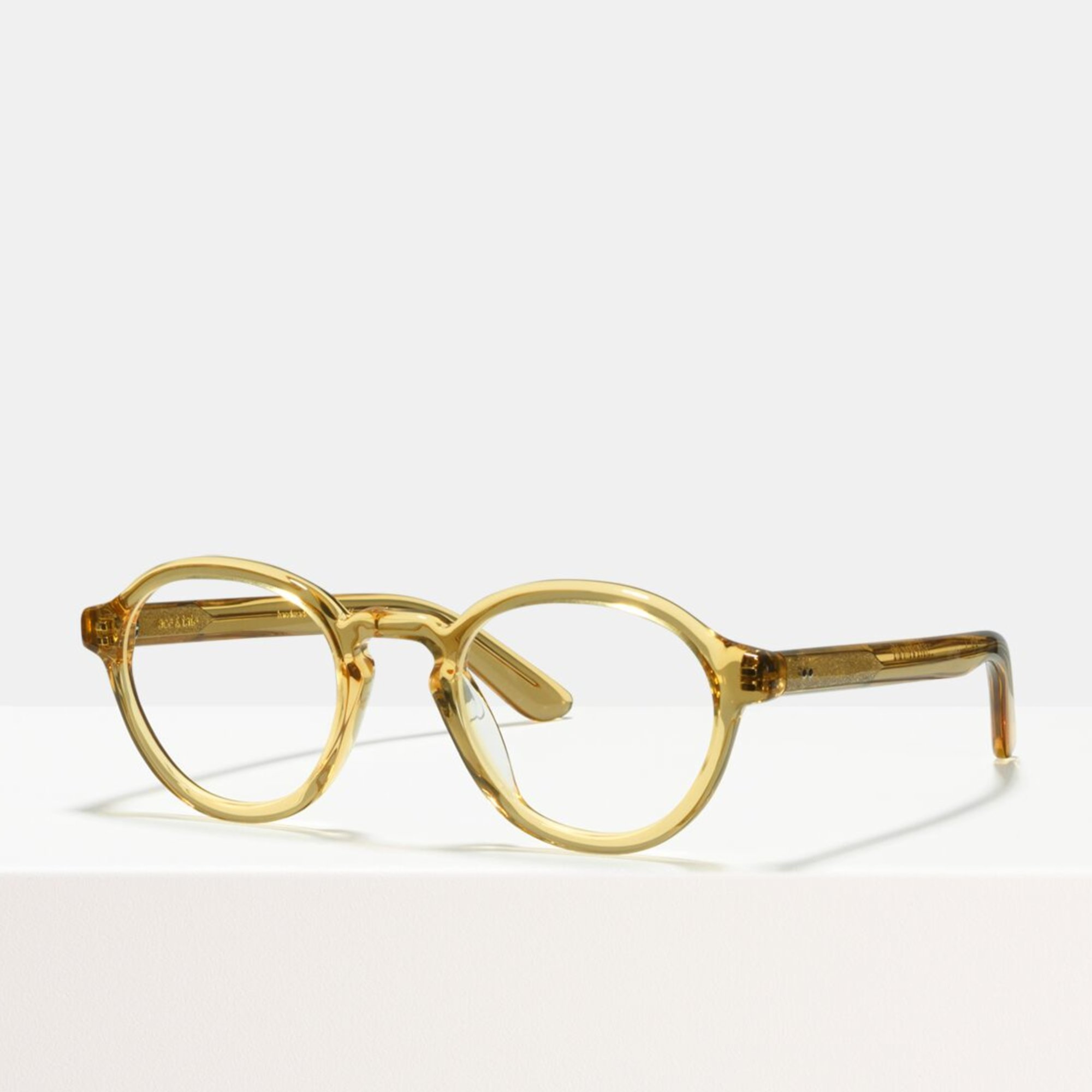Ace & Tate Glasses | round acetate in Yellow