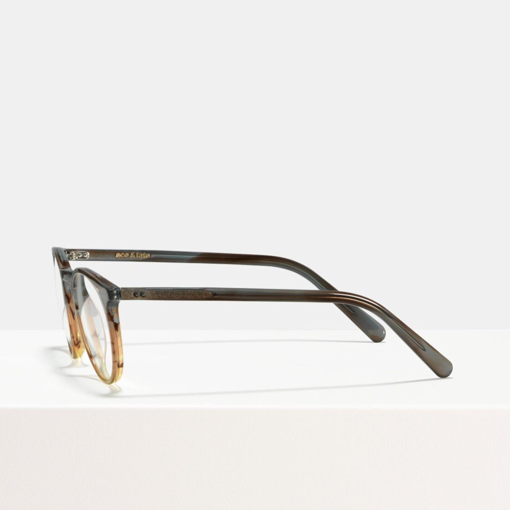 Ace & Tate Glasses | rund Acetat in Grau, Braun, Orange