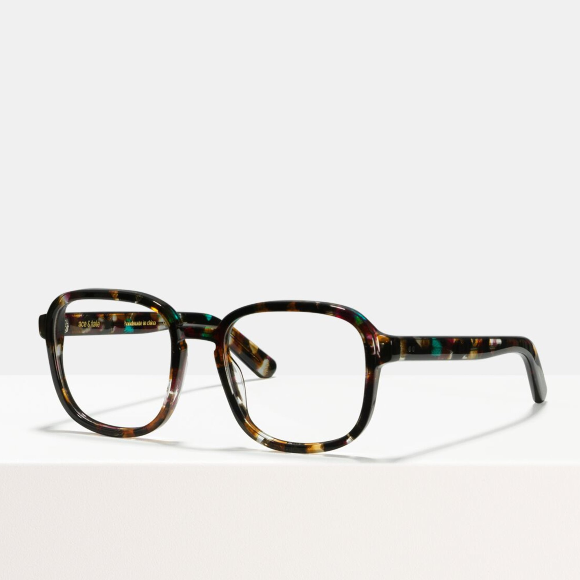 Ace & Tate Glasses | square acetate in Brown, Black, Blue, Pink