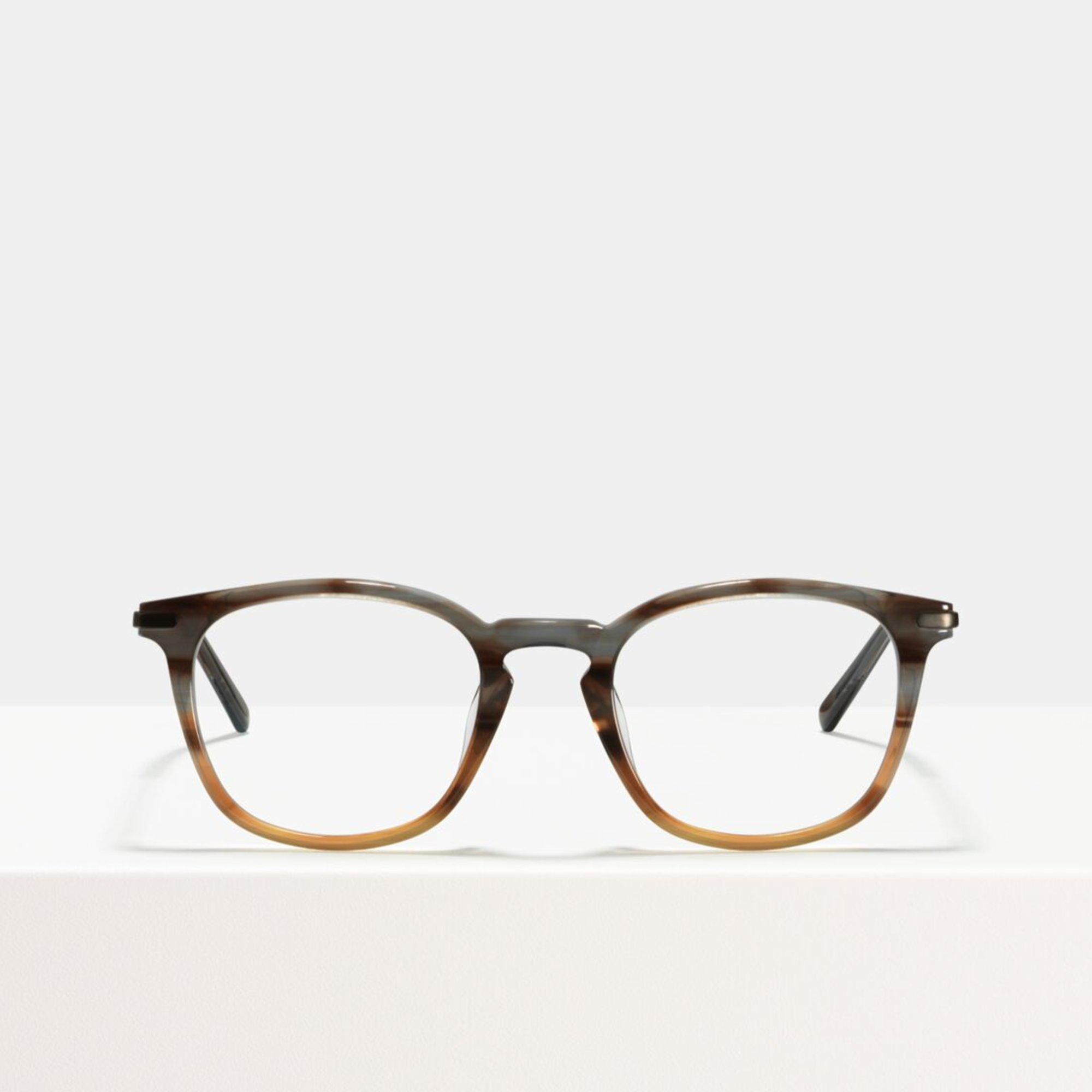 Ace & Tate Glasses | quadratisch Acetat in Grau, Braun, Orange