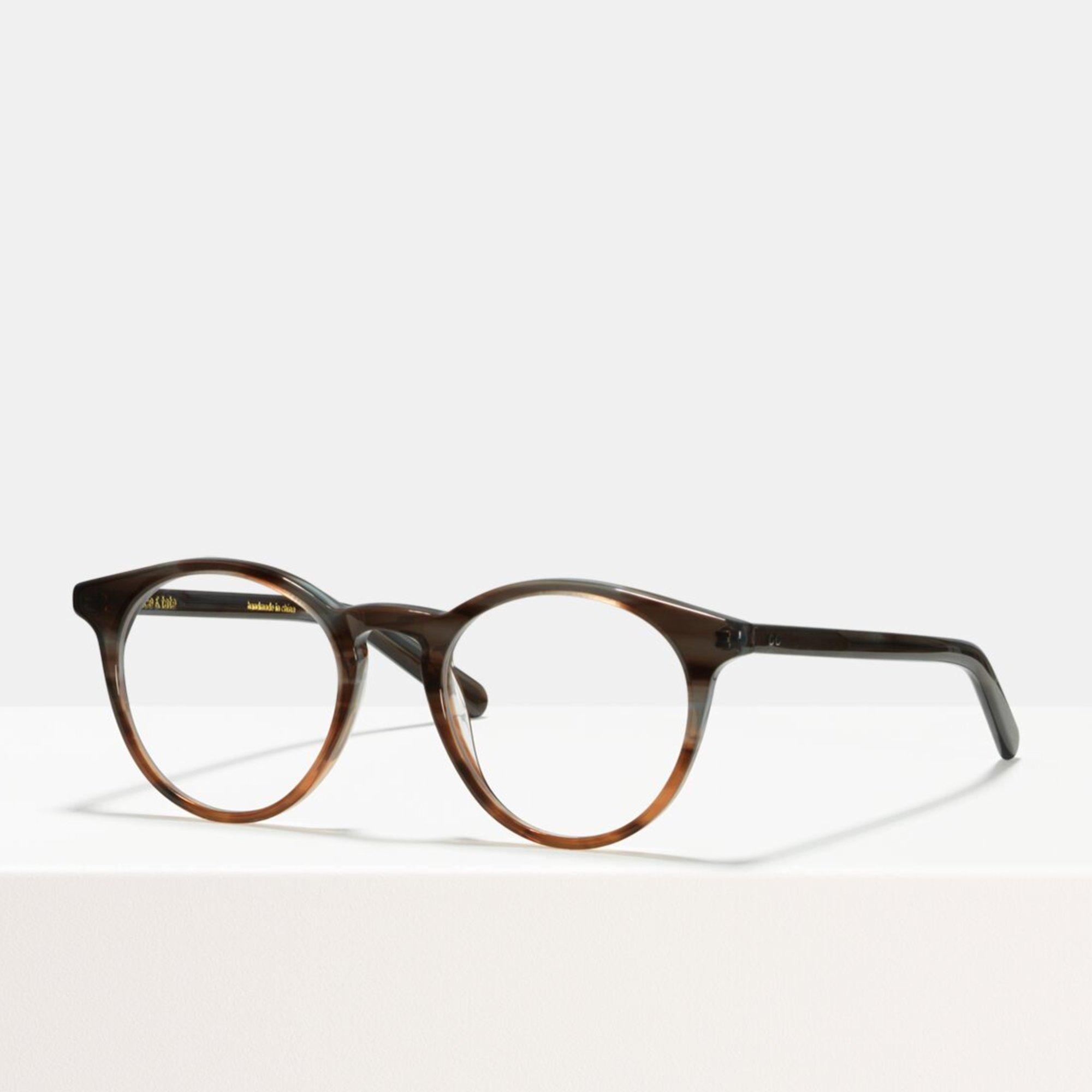 Ace & Tate Glasses | rund Acetat in Braun, Grau, Orange
